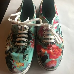 Unisex Vans Off the Wall Sneakers Tropical Floral